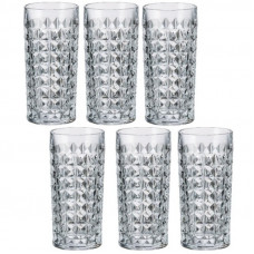 Набор высоких стаканов Bohemia Diamond b2KE38-99T41 (260мл)