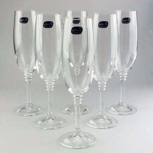 Набор бокалов для шампанского Bohemia Olivia 6 шт b40346 (190мл)