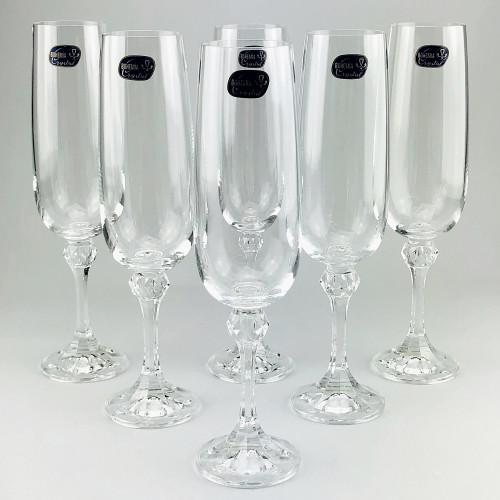 Набор бокалов для шампанского Bohemia Julia 6 шт b40428 (180мл)