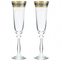 Набор бокалов для шампанского Bohemia Angela 2 шт b40600-43249 (190мл)