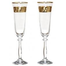 Набор бокалов для шампанского Bohemia Angela 2 шт b40600-Q8184 (190мл)