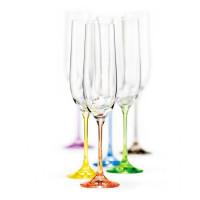 Набор бокалов для шампанского Bohemia Rainbow 6 шт b40729-D4641 (190мл)