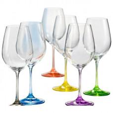 Набор бокалов для вина Bohemia Rainbow 6 шт b40729-D4641 (350мл)