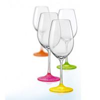Набор бокалов для вина Bohemia Neon Frozen 4 шт b40729-D4896 (350мл)