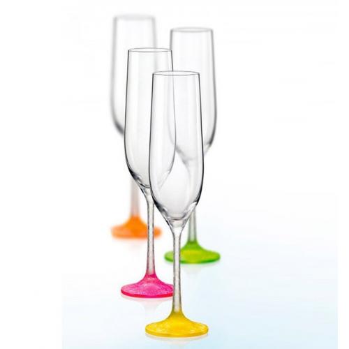 Набор бокалов для шампанского Bohemia Neon Frozen 4 шт b40729-D4896 (190мл)