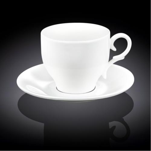 Чашка с блюдцем для кофе Wilmax WL-993103 (90мл)