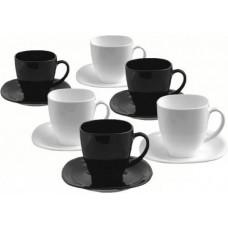 Чайный сервиз Luminarc Carine Black&White D2371 (220мл) 12пр