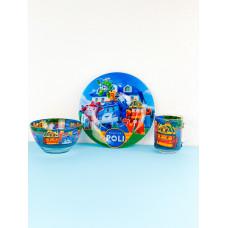 Набор детской посуды Legend Robocar Poli 3 предмета
