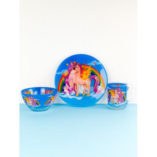 Набор детской посуды Legend единорог 3 предмета