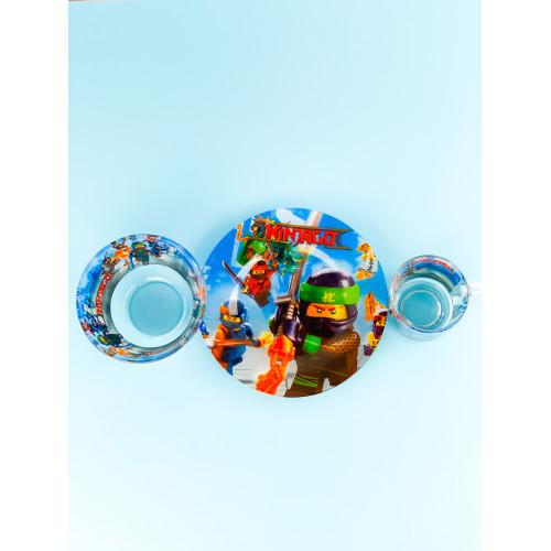 Набор детской посуды Legend Ninjago 3 предмета