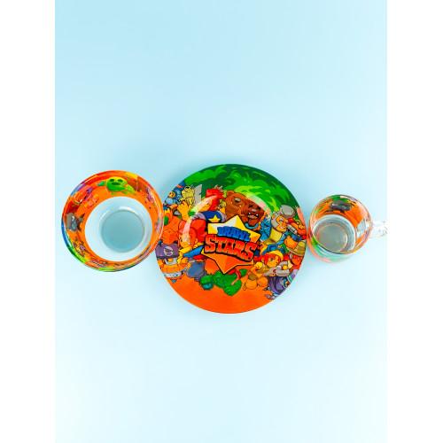 Набор детской посуды Legend Brawl Stars 3 предмета