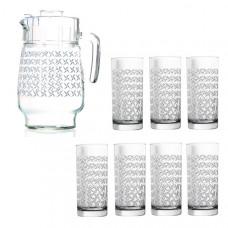 Кувшин со стаканами Luminarc Aldwin N0800 (кувш.1,6л,стак.270мл-6шт) - 7пр.