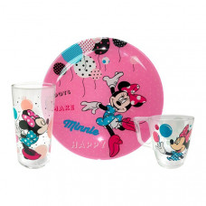 Детский набор Luminarc Disney Party Minnie L4877 (чаш.250мл,стак.270мл,тар.20см)-3пр