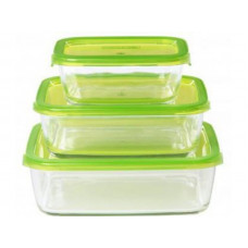 Набор прямоугольных контейнеров Luminarc Keep'n'Box G8641 (370мл,760мл,1160мл)-3пр