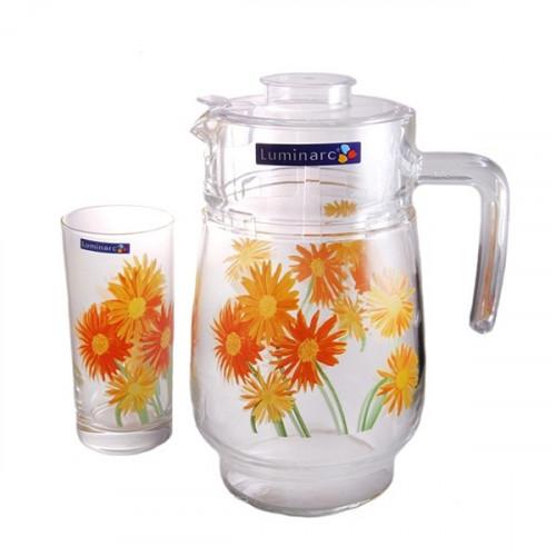 Кувшин со стаканами Luminarc Marguerite G1984 (кувш.1,6л,стак.270мл-6шт)-7пр