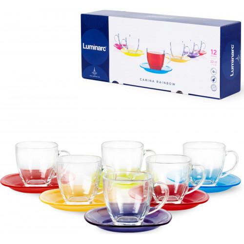 Чайный набор  Luminarc Carine Rainbow N4217   (220мл)  - 12 пр
