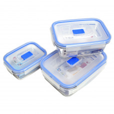 Набор прямоугольных пищевых контейнеров Luminarc Pure Box Active H7686 (380мл,820мл,1220мл)-3пр