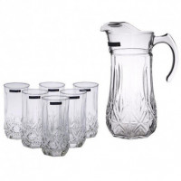 Кувшин со стаканами Luminarc Brighton N0782 (кувш.1,8л,стак.310мл-6шт)