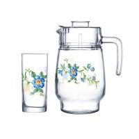 Кувшин со стаканами Arcopal Cybele N3214 (кувш.1,6л,стак.270мл-6шт)-7пр