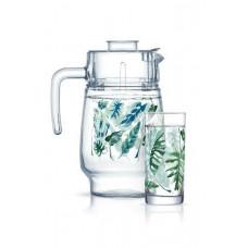 Кувшин со стаканами Luminarc Tropical Foliage P4821 (кув.1,6л,ст.270мл-6шт)