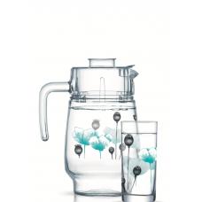Кувшин со стаканами Luminarc Angelique Turquoise P6286 (кув.1,6л,стак.270мл-6шт)