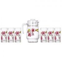 Кувшин со стаканами Luminarc Water Color P7260 (кув.1,6л,ст.270мл-6шт)