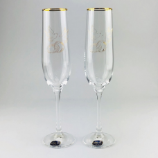 Набор бокалов для шампанского Bohemia Viola 2 шт b40729-Q7976 (190мл)