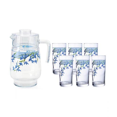 Кувшин со стаканами Arcopal Aliya Blue N3421 (кувш.1,6л,стак.270мл-6шт)-7пр