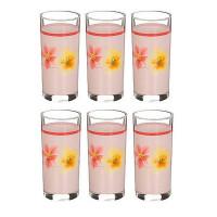 Набор высоких стаканов Luminarc Poeme Rose D2159 (270мл) -6шт
