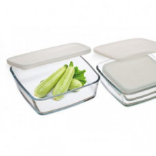 Набор квадратных пищевых контейнеров Simax s350 (1700 мл, 1000 мл, 500 мл) - 3 предмета