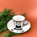 Зеркальная чашка с блюдцем панда (отражает рисунок) 250 мл Abra ab8030-88