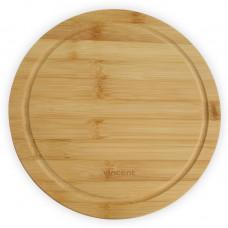 Доска разделочная бамбуковая круглая Vincent VC-2103-24 (24х24х1,2см)