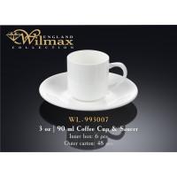 Чашка с блюдцем для кофе Wilmax WL-993007 (90мл)