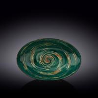 Блюдо овальное глубокое Wilmax Spiral Green WL-669541 / A (30х19.5х7 см)