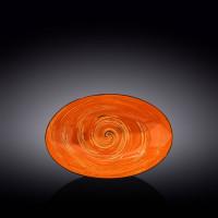 Блюдо овальное глубокое Wilmax Spiral Orange WL-669340 / A (25х16)