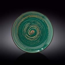 Тарелка круглая Wilmax Spiral Green WL-669516/A (28 см)