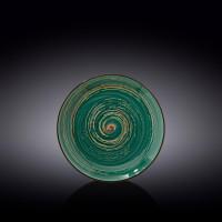 Тарелка круглая Wilmax Spiral Green WL-669511 / A (18 см)