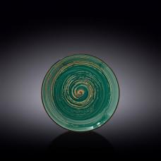 Тарелка круглая Wilmax Spiral Green WL-669511/A (18 см)
