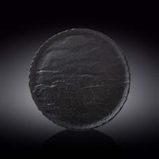 Тарелка круглая Wilmax Slatestone Black WL-661127/A (28 см)