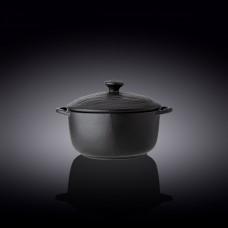Горшок для запекания с крышкой Wilmax Slatestone Black WL-661140 / A (18см/0.6л)